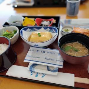 なだ万の朝食から厳島神社へ