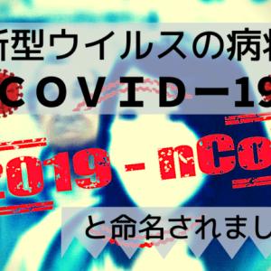 新型ウイルスの病状「COVIDー19」と命名されました。