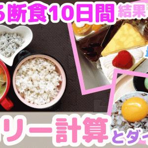 【号外】食べる断食10日間のまとめと確信したカロリーとダイエットの関係☆YouTube12本目!