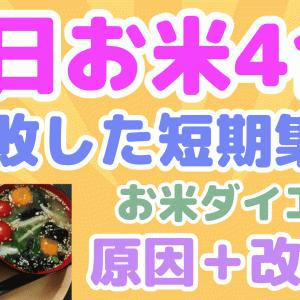 【号外】1日お米4合+間食☆失敗した短期集中お米ダイエット原因と改善点!