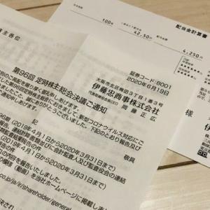 総合商社大手|伊藤忠商事(8001)から配当金を頂きました!