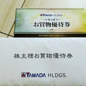 ヤマダ電機(9831)から、お買い物優待券を頂きました。