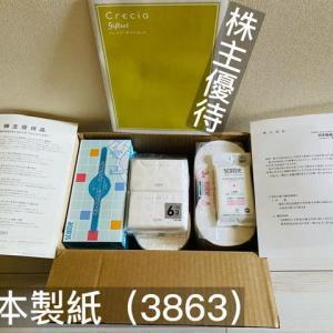 日本製紙(3863)より、株主優待品(家庭用品詰め合わせ1セット)が届きました!