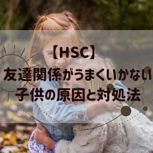 【HSC】友達関係がうまくいかない子供の原因と対処法