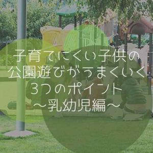 育てにくい子供の公園遊びがうまくいく3つのポイント~乳幼児編~
