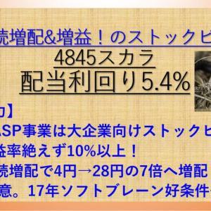 10年連続増配の高配当株! スカラ(4845) 配当利回り5%以上 【資産株お勧め79.】