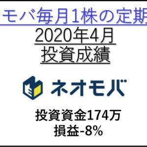 【2020年4月投資成績】ネオモバ高配当株の定期買付