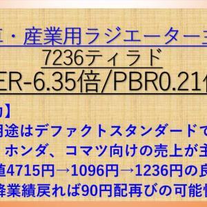 ティラド(7236) PER-6.35倍 PER0.21倍 【バリュー株分析17.】