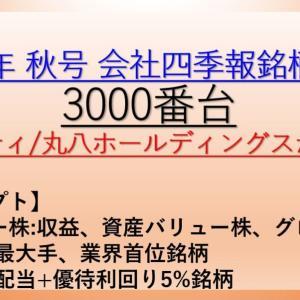 2020年 秋号 会社四季報 バリュー株、大型株、資産株 銘柄分析 3000番台
