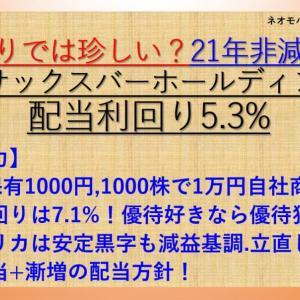 21年非減配!株主優待も! サックスバーホールディングス(9990) 配当利回り5.3%【ネオモバ高配当株分析.10】
