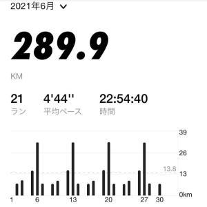2021年6月のマラソン走行距離 289km