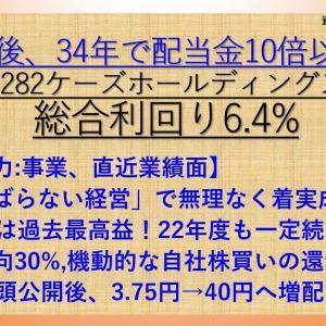 がんばらない経営で10倍以上へ増配! ケーズホールディングス(8282) 配当+優待利回り6.4%【資産株.148-②】