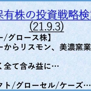 保有株の投資戦略4(21年9月3日) バリュー株/大型株/資産株