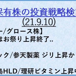 保有株の投資戦略5(21年9月10日) バリュー株/大型株/資産株