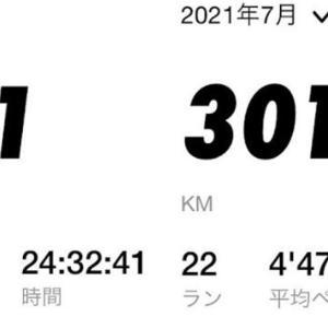 2021年夏場のマラソン!7月301km、8月299kmの走行距離