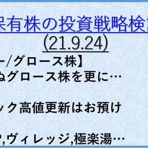 保有株の投資戦略7(21年9月24日) バリュー株/大型株/資産株
