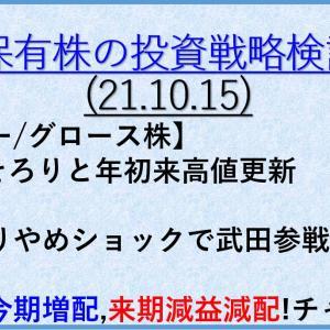 保有株の投資戦略10(21年10月15日) バリュー株/大型株/資産株