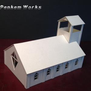 1/150教会の模型/組立