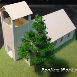 白の教会模型。