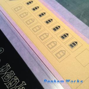 色付き紙タイプ教会模型
