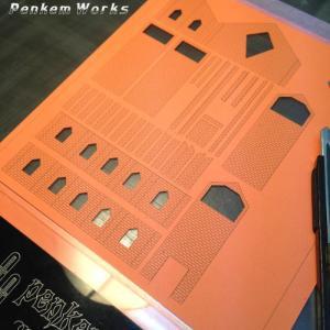 模型の窓穴カット