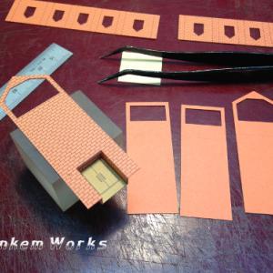 教会の模型色紙タイプ/本体組立