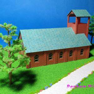 教会の模型/撮影写真