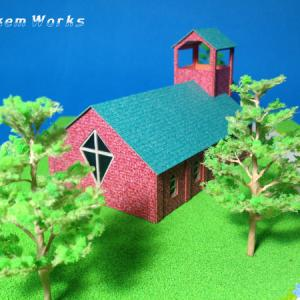 教会の模型撮影