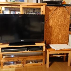 不要なテーブルでテレビ台をリメイクしたぞ!