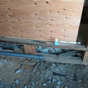 キッチン排水を塩ビ管で構築~空き家リノベーション#63【設備】