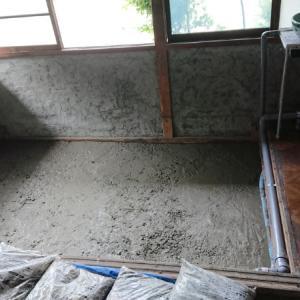 土間をコンクリートで固める~空き家リノベーション#65【窯場作り】