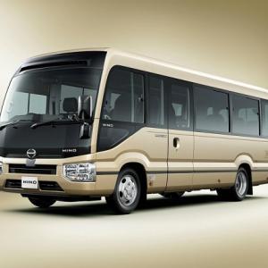 ● 日野の小型バス・リエッセIIに、最上級グレード「プレミアムキャビン」を追加!