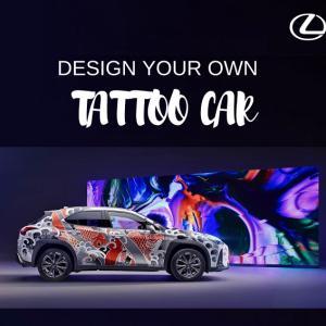 ● レクサス UX、「タトゥーカー」の最優秀デザイン発表…実車にラッピングで表現