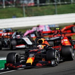 ● F1 第4戦 イギリスGP決勝 レッドブル・ホンダのマックス・フェルスタッペンは2位表彰台