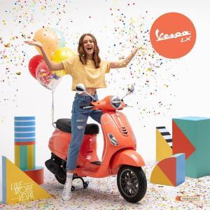 """● ベスパ LX 125 i-getに新色""""コーラル""""を追加、サンゴカラーのハッピーなベスパ登場"""
