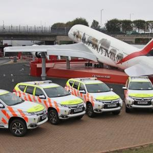● 三菱「新型 パジェロスポーツ」空港オペレーション車両として配備…英ヒースロー空港