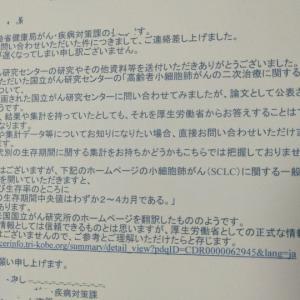 厚生労働省からのメール&返信と資料送付②