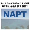 NAPT【ネットワークスペシャリスト試験 平成29年度 秋期 午後1 問3 設問1】