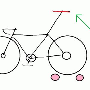 怖くない?転ばずに3本ローラー上のロードバイクにまたがる方法