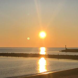今日も楽しくポタリング  少し涼しくなってから夕陽を見に行く