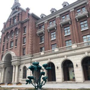 天津の和食44,「寅座」利順德ホテル付近の眺めの冬の顔
