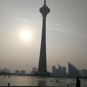 天津タワーで真冬のスケート!そして中国で買ったタコ焼き器の威力