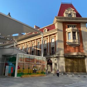 天津の「くまモン専門店」は最良な川沿いのお散歩コース