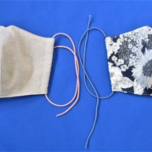 銀イオン不織布と酸化チタフィルター内蔵マスク作りました