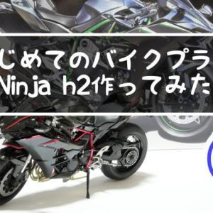 初めてのバイクプラモ3 NinjaH2やっと完成 ガンプラ再び初めて1年目が作ってみた