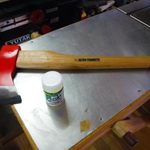 激安の斧 シース作り