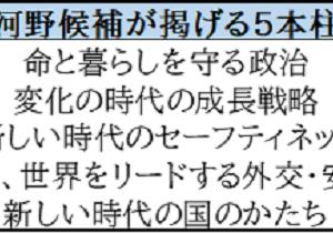 自民党総裁選ー河野太郎候補の政策~5本柱を中心に~