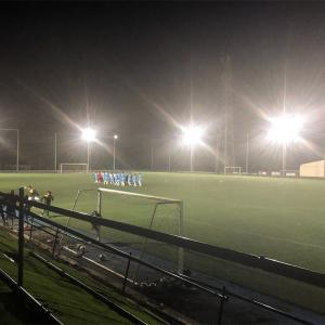 富士山の麓でサッカー部のナイター観戦!最大の敵は寒さでした!