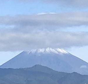 富士山が初冠雪!2021年はいつだった?・・・9月7日でした