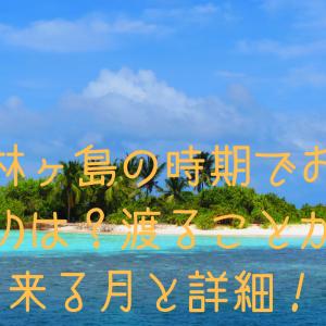 知林ヶ島の時期でおすすめは?渡ることが出来る月と詳細!